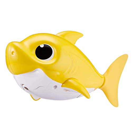 31pQ1po15%2BL - Robo Alive Junior Baby Shark Battery-Powered Sing and Swim Bath Toy by ZURU - Baby Shark (Yellow) (Color may vary)