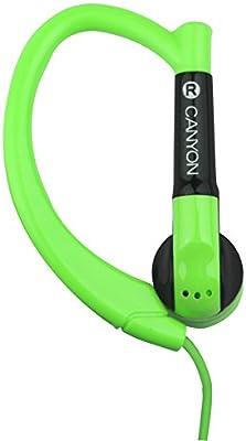 CANYON - Auriculares Deportivos con micrófono Incorporado, Verde ...
