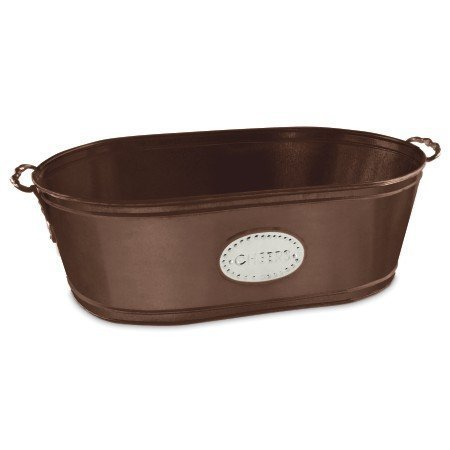 Large Copper Party Ice Tub for Beverages with ''Cheers'' Label