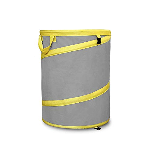 Jardineer Pop up Trash Can Garden Bag- 30 Gallons Reusable Yard Waste Bags Heavy Duty Handles, Collapsible Gardening Bags Lawn ()