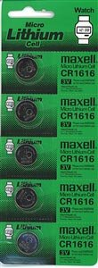 100pcs.new, CR1616 Maxell Watch Batteries 3v by Maxell