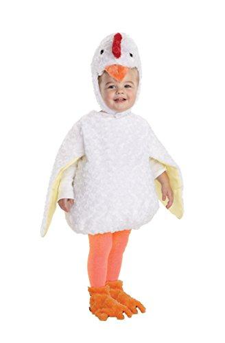 Underwraps Baby's Chicken Belly-Babies, White, (Toddler Chicken Costume)