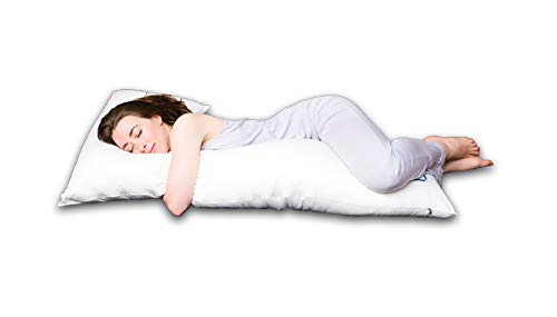 The snuggL Pillow - Total Body Pillow, Rated Best Pillow for Side Sleepers, Pregnancy Pillow, Hypoallergenic with Contoured Support System (White)