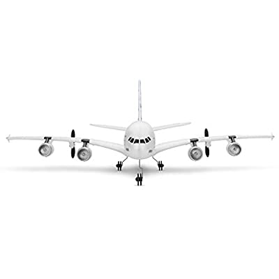 UPDD A120 - Airbus A380 2.4Ghz 510Mm Wingspan 3Ch Rc Airplane Fixed Wing Rtf Remote Control USB Charger Forward Flying Blade: Toys & Games