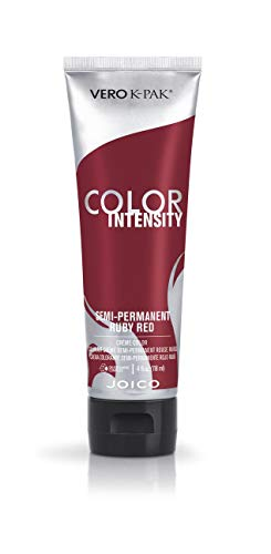 Joico Intensity Semi-Permanent Hair Color, Ruby Red, 4 Ounce (Perm Semi Permanent)