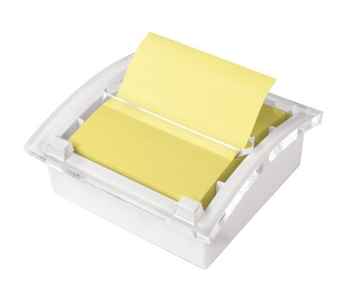 Post-it Pop-up Notes Dispenser for 3 x 3-Inch Notes, White Dispenser, Includes Canary Yellow Notes
