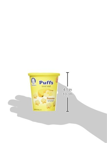 Gerber Puffs Banana Snack Cup, 0.70 Ounce, 8 Count