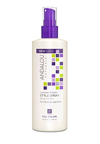 Andalou Naturals Lavender & Biotin Full Volume Style Spray 8.2 Ounce (Best All Natural Hairspray)