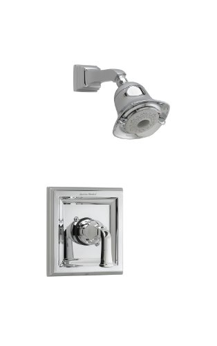 American Standard T555.527.002 Town Square Shower Only Trim Kit with 3-Function Flowise Showerhead, Polished Chrome