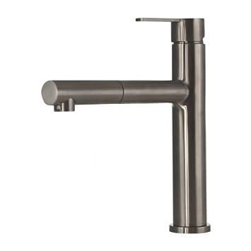 Spültischarmatur Wasserhahn Küche Spültisch Armatur Mizzo Design Lori    100% Edelstahl Mischbatterie   Matt Gebürstet