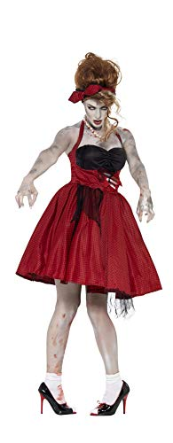 60's Pin Up Girl Halloween Costumes (Smiffys Zombie 50s Rockabilly)