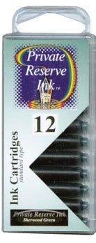 Private Reserve Refills Sherwood Green 12-pack Fountain Pen Cartridge - PR-C04