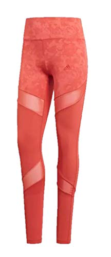 adidas Women's Climalite Ultimate High Rise Printed Long Tights, Trace Scarlet/Print, Small by adidas (Image #5)