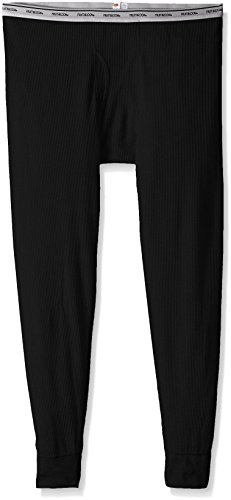 Fruit of the Loom Men's Classics Midweight Thermal Bottom, Black Soot, XX-Large