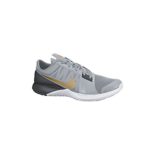 NIKE Lite Trainer 3 Herren Runde Zehe Synthetik Cross Training Grau / Anthrazit / Platin / Metallic Gold