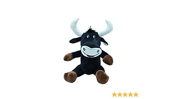 ML Toro de Peluche Juguete De Peluches Interactivo para Bebe, De Dibujos Animados Suaves Muñeca Rellena Siesta Almohada Regalo De Cumpleaños para niños y niñas Amantes 33 Cm (Toro Negro): Amazon.es: Juguetes
