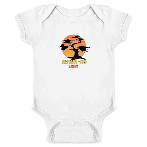 Karate Kid Miyagi-Do Dojo Bonsai Sunset Costume White 6M Infant Bodysuit