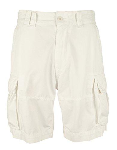 Polo Ralph Lauren Mens Twill Flap Pockets Cargo Shorts White - Pocket Flap Plaid Shorts