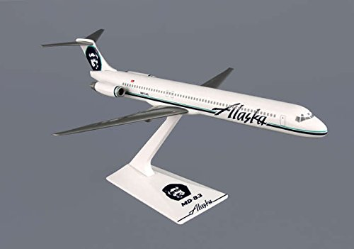 Flight Miniatures Alaska Airlines McDonnell Douglas MD-83 1:200 Scale Display Model