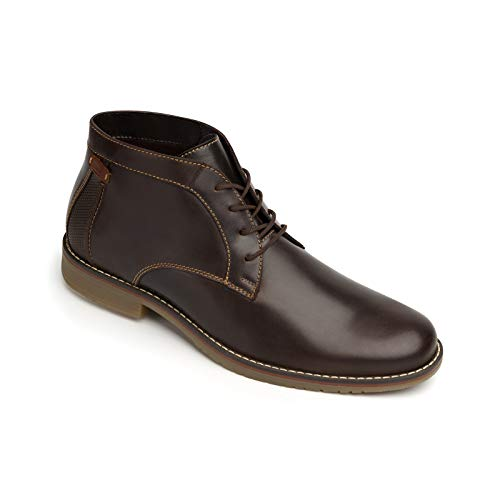Price comparison product image Flexi Jeremy Men's Genuine Waxed Leather Chukka Dress Boot / 92404 (10) Chocolate