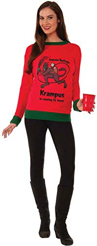 Forum Plus-Size Extra Large Krampus Ugly Christmas Sweater, Multi, -
