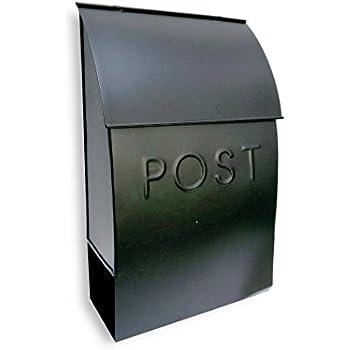 NACH mb-44902 POST Milano Pointed Mailbox, Black