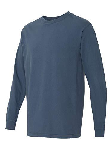 (Comfort Colors Ringspun Garment-Dyed Long-Sleeve T-Shirt (C6014)- MIDNIGHT, L)