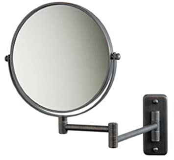 SeeAll 8u0026quot; Makeup Vanity Mirror, Oil Rubbed Bronze, Dual Arm, Wall