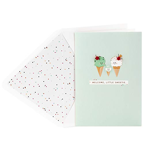 Hallmark Signature Baby Shower Card (Ice Cream Cones) -