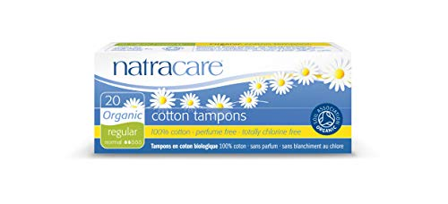 (Natracare Organic All Cotton Tampons, Non-Applicator, Regular,  20 Count Boxes (Pack of 12))
