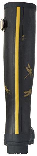 Tom Joule W_WELLYPRINT, Botas Altas de Agua Mujer, , Negro (Black Dragonfly)