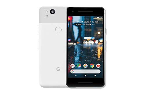 Pixel 2 Phone (2017) by Google, G011A 64GB 5 inch Factory Unlocked Android 4G/LTE Smartphone (Clearly White) - International Version (Certified Refurbished)