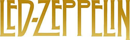 - ANGDEST LED Zeppelin ICON (Metallic Gold) (Set of 2) Premium Waterproof Vinyl Decal Stickers for Laptop Phone Accessory Helmet Car Window Bumper Mug Tuber Cup Door Wall Decoration