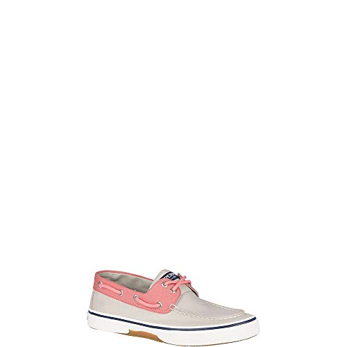 SPERRY Men's, Halyard Boat Shoe Nautical Khaki/RED 8 M
