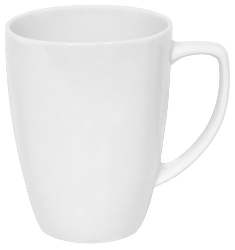 Corelle Square 12-Ounce Mug, Pure (Plain Coffee Mug)