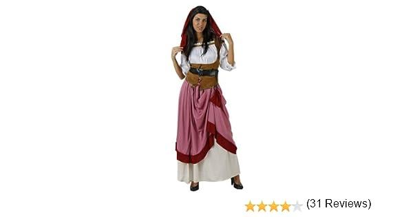 Atosa-12326 Disfraz Mesonera, color rojo, XXL (12326): Amazon.es ...