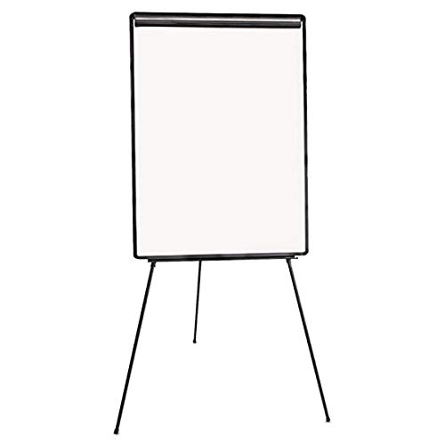 TableTop King UNV43032 29'' x 41'' White and Black Light Weight Tripod Style Dry Erase Easel by TableTop King