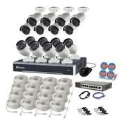 Swann SWNVK-247516-US 24 Channel 5MP HD IP 4TB Security System Kit Network Video Recorder NVR & 16 x 5MP Surveillance Bullet Camera