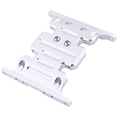 Part Option Plate - Hobbypark Aluminum Center Frame Brace Transmission Skid Plate for AXIAL SCX10 1/10 RC Rock Crawler Car Option Parts (Sliver)