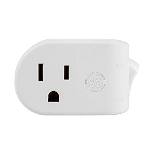 Switch 20a (GE Grounded On/Off Power Switch, Plug-In, White, Energy Efficient, Space Saving Design, UL Listed, 15A, 120VAC, 1800W, 25511)