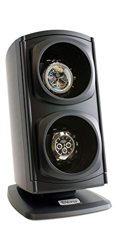 [Newly Upgraded] Versa Automatic Double Watch Winder in Black ()