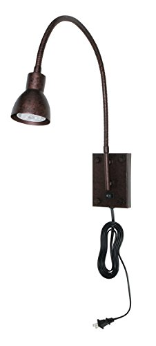 Cal Lighting BO-119-RU Gooseneck Sconce with No Shades, Rust Finish - Rust Outdoor Transitional Four