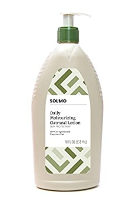 Amazon Brand - Solimo Daily Moisturizing Oatmeal Lotion Skin Protectant, Dermatologist Tested, Fragrance Free, 18 Fluid Ounce