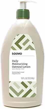 Amazon Brand - Solimo Daily Moisturizing Oatmeal Lotion Skin Protectant, Dermatologist Tested, Fragrance Free, 18 Fluid Ounce