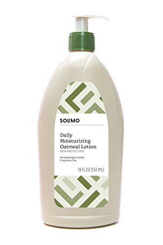 Amazon Brand – Solimo Daily Moisturizing Oatmeal Lotion Skin Protectant, Dermatologist Tested, Fragrance Free, 18 Fluid Ounce