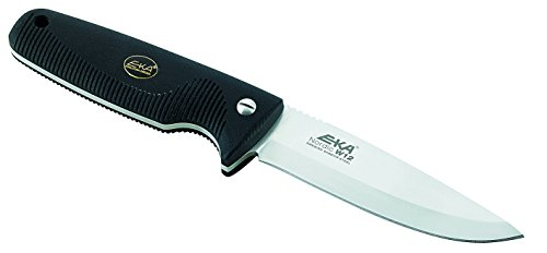 EKA Nordic W12 Fixed Blade Hunting Knife Black Handles by EKA