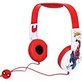 Spider Man Kid Safe Headphones for Toddlers Smaller Headphones Best for Ages 3 to 6 yrs Old Over The Ear Padded Cushions…