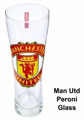 - Man Utd Crest Peroni Pint Glass