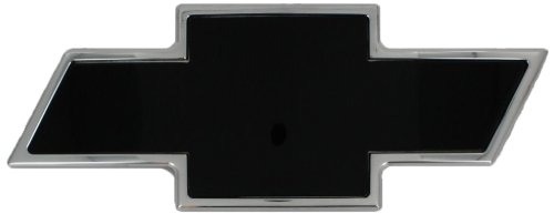 AMI 96195KP Chevy Bowtie Grille Emblem - Polished/Black Powder coat, 1 Pack