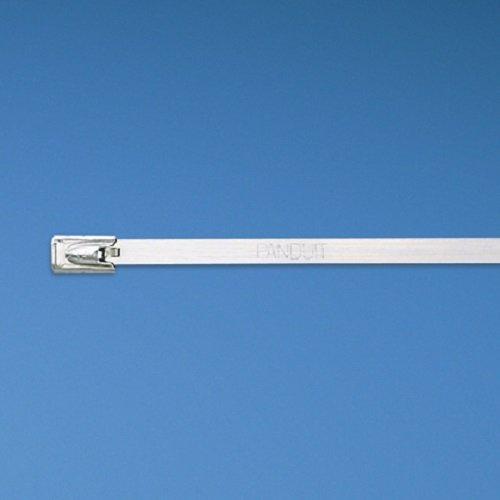 Panduit MLT2H-LP Pan-Steel Self-Locking Cable Tie, General Purpose, Heavy Cross Section, AISI 304 Stainless Steel, 2.0'' Max Bundle Diameter, 0.50'' Min Bundle Diameter, 450lbs Min Tensile Strength, 0.010'' Thickness, 0.31'' Width, 7.9'' Length (Pack of 50) by Panduit (Image #3)